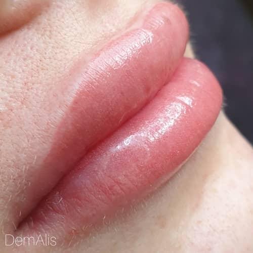 Перманентный макияж губ Нюд